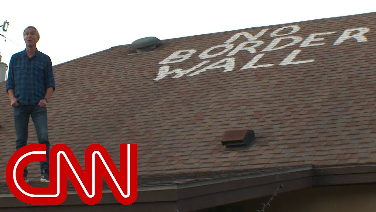 Border resident paints message to President Trump on roof