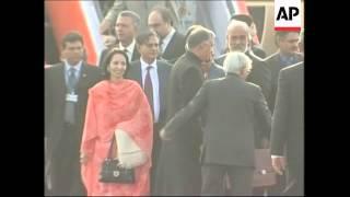 Pakistan prime minister arrives