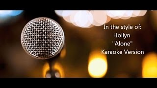 "Hollyn ft. TRU ""Alone"" BackDrop Christian Karaoke"