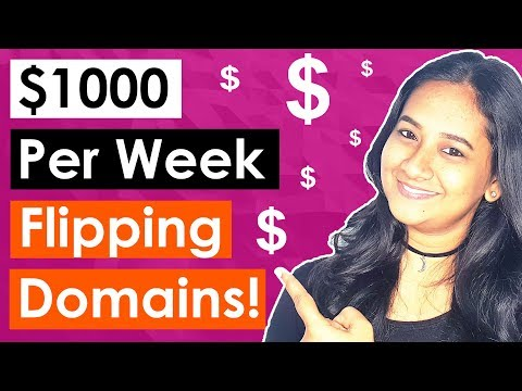How To Make $1000 Dollars A Week With Domain Flipping (For Beginners). http://bit.ly/2Q6cQQf
