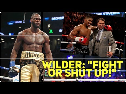 "DEONTAY WILDER: ""ANTHONY JOSHUA WILL NEED AN OXYGEN TANK IN HIS CORNER!""/""SNEAKY"" HEARN/PRAISES FURY"