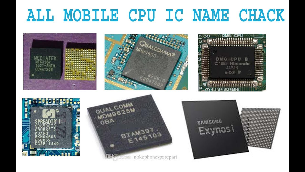 how to know your mobile cpu mtk spd ic name check - YouTube