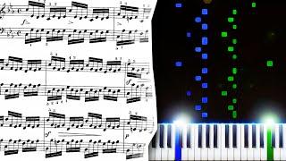 J.S. Bach - Prelude and Fugue No. 2 in C Minor - Piano Tutorial видео