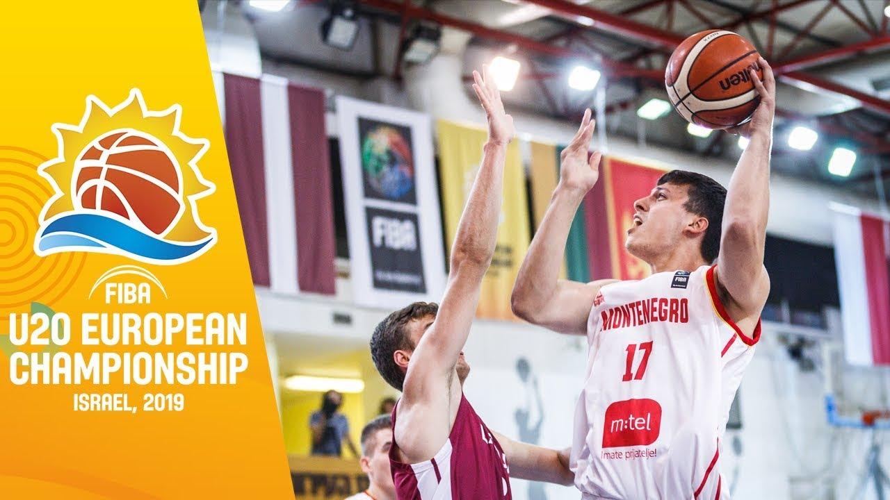 Montenegro v Latvia - Full Game - FIBA U20 European Championship 2019