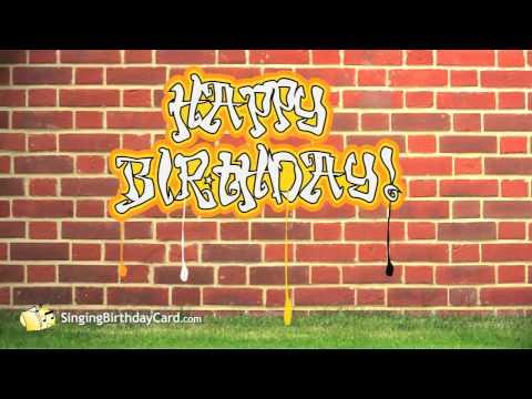 Открытка с днем рождения хип-хоп, красивые анимационные открытки