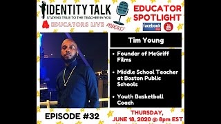 "IDTALK4ED LIVE Episode #32 - ""McGriff Films"" (Tim Young)"