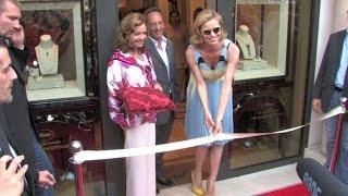 Eva Herzigova at Chopard new store opening in Cannes