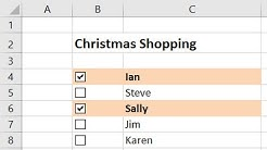 Create an Interactive Checklist in Excel