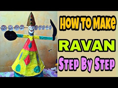 How to Make Ravana step by step at Home 2018 (Part-1) || yedeshmera