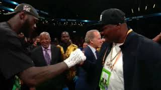 LUIS ORTIZ CALLS OUT DEONTAY WILDER IN WILDER VS BREAZEALE POST FIGHT INTERVIEW!