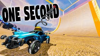 ROCKET LEAGUE HALF PIPE MAP WITH ONE SECOND RUMBLE IS CRAZY FUN!
