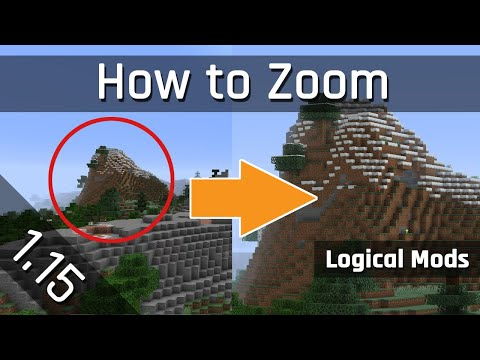 How to Zoom with my Logic Zoom Mod | Minecraft 1.15
