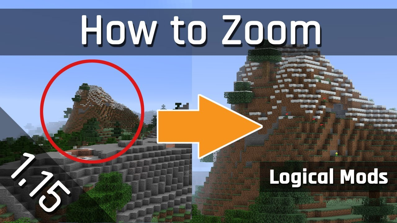 How to Zoom with my Logical Zoom Mod  Minecraft 9.96