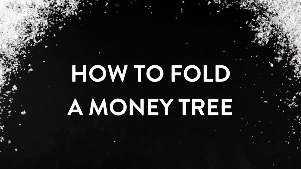 How To Fold A Money Christmas Tree
