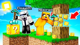 ¡Minecraft SKYBLOCK pero ROMPER BLOQUES = LUCKY BLOCKS! 😱