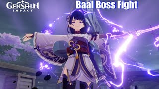 Genshin Impact - Baal Boss Fight (Raiden Shogun vs Aether)