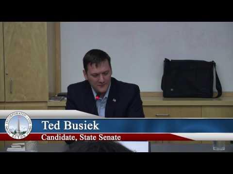 Candidate Debate Forum - State Senate - October 24, 2016