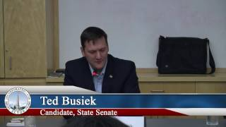 Candidate Debate Forum - State Senate - October 24, 2016