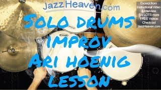 Ari Hoenig *Drum Lesson* Improvising a Solo Piece JazzHeaven.com Jazz Drum Video Excerpt