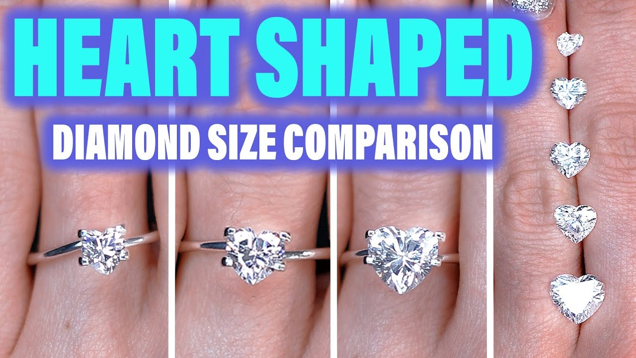Heart Shaped Diamond Ring Size Comparison On The Hand