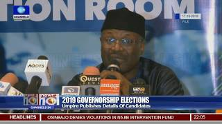 2019 Elections: INEC Publishes Details Of Governorship, Assembly Candidates