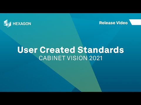 User Created Standards | CABINET VISION 2021