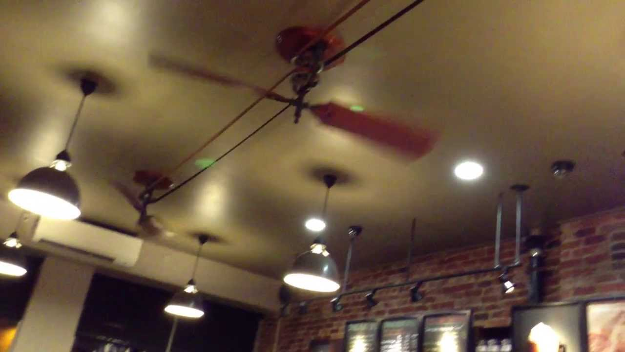 Cool Ceiling Fan Starbucks Nyc New York City First Avenue 2017