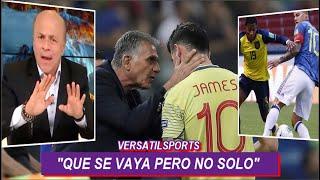 CARLOS ANTONIO VELEZ DEFIENDE a CARLOS QUEIROZ en GOLEADA de ECUADOR vs COLOMBIA