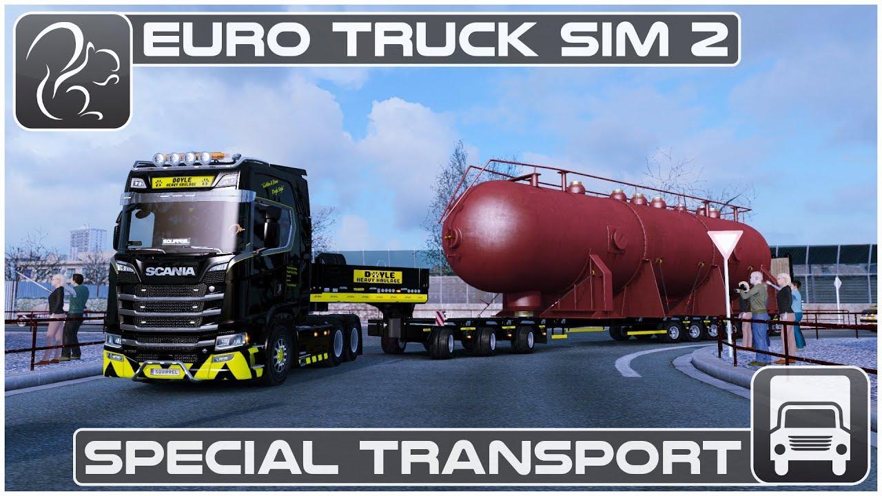 special transport dlc euro truck simulator 2 first. Black Bedroom Furniture Sets. Home Design Ideas