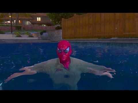 Человек Паук Убегает от Полиции Spider-Man Running from Cops