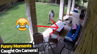 Funny Moments Caught On Security Cameras