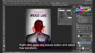 How To Design A Bloody Amazon  ( Kindle )  Book Cover \ Photoshop Cc Tutorial