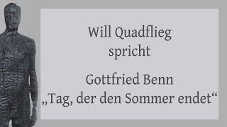 """Gottfried Benn – """"Tag, der den Sommer endet"""" (1935)"""