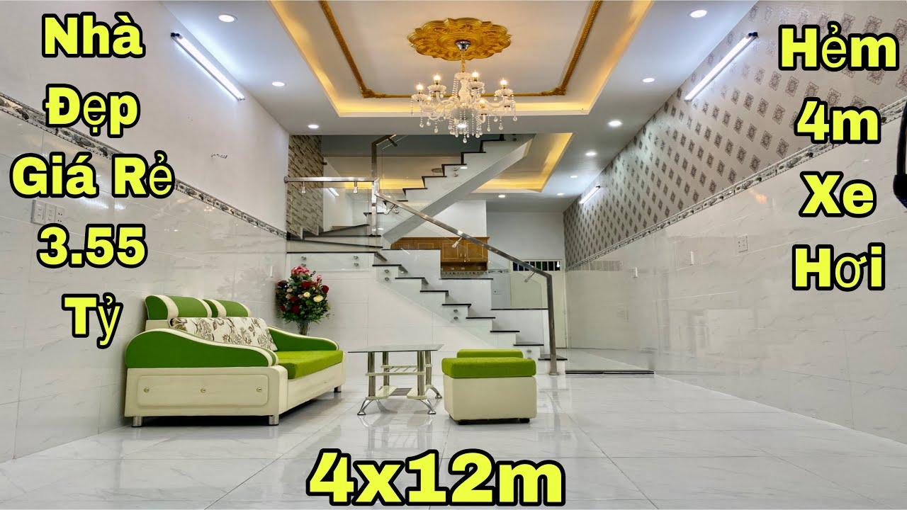 Bán nhà Gò Vấp dưới 3 tỷ| Nhà đẹp 4x12m đúc thật trệt lầu , hẻm 4m xe hơi|giá rẻ