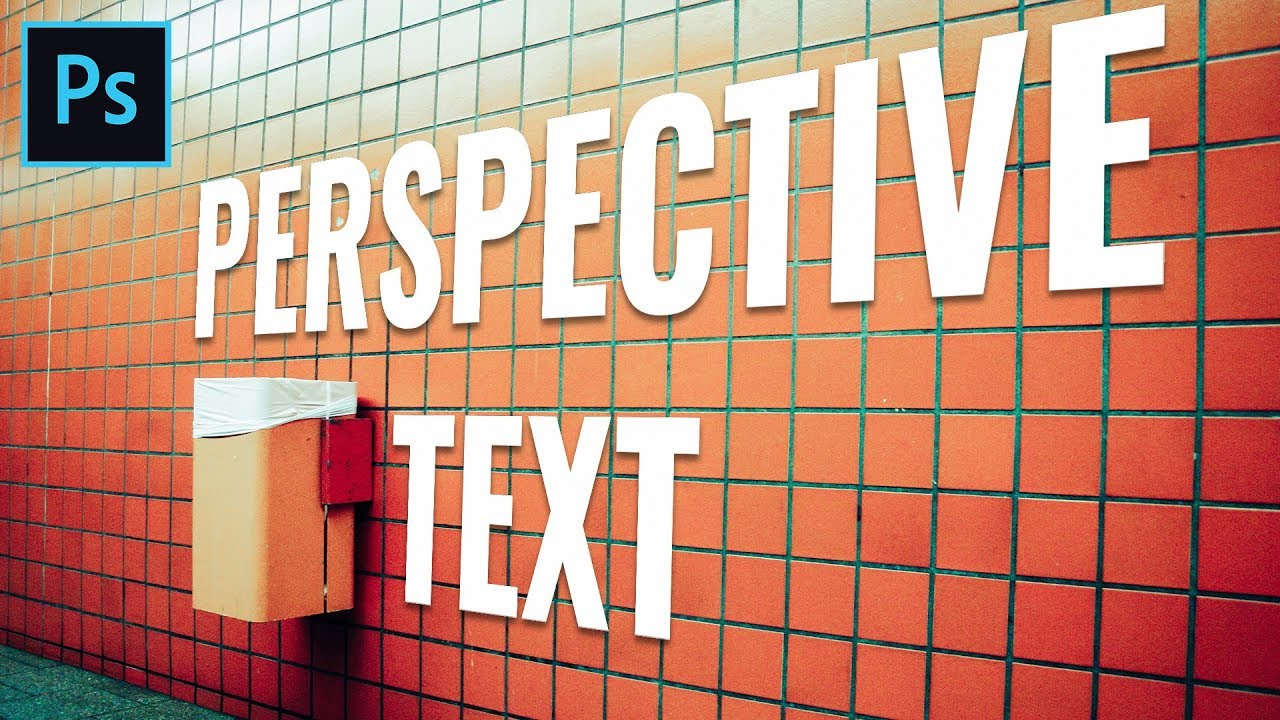 Perspective Text Photoshop Effect – Vanishing Point Tutorial
