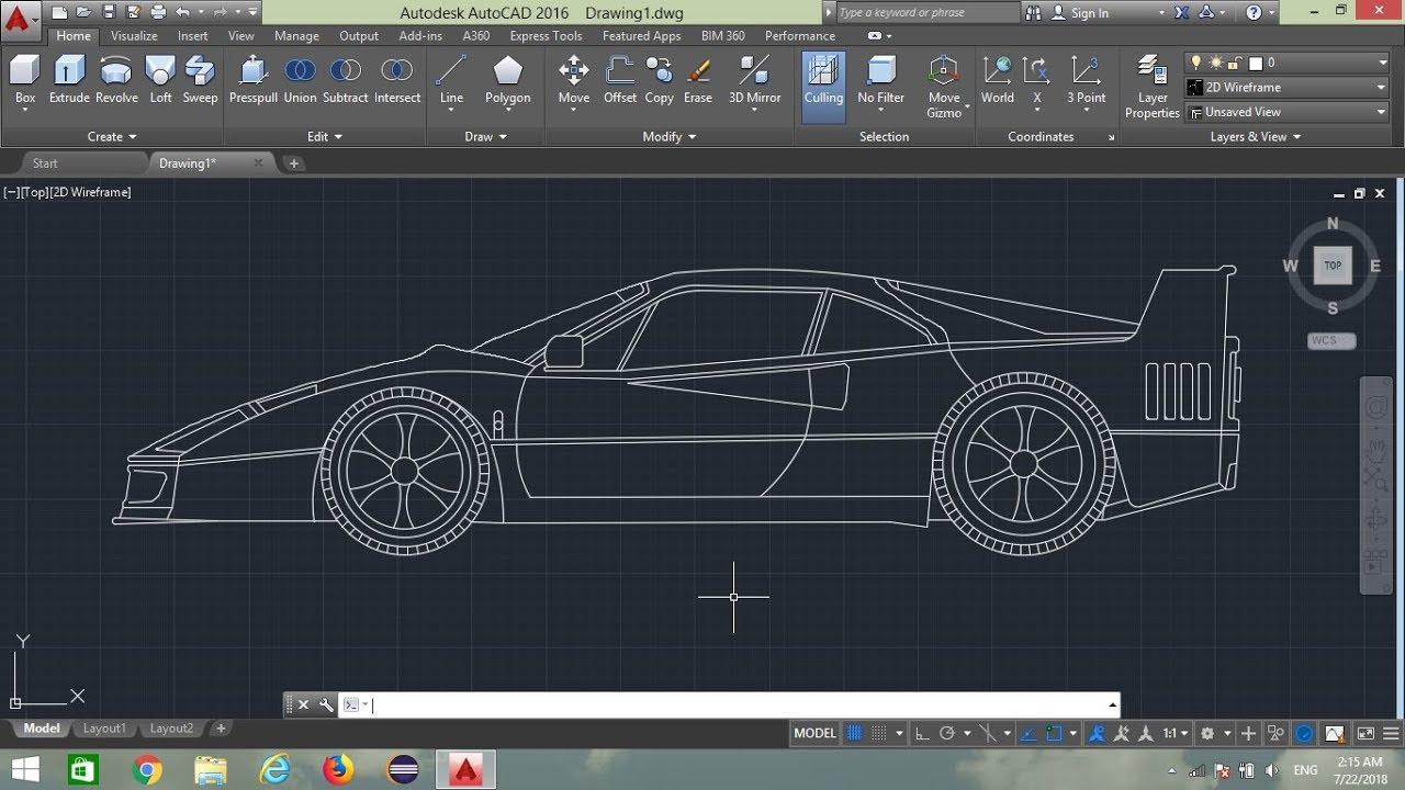 how to design sports car in autocad    autocad   u0939 u093f u0928 u094d u0926 u0940  tutorial