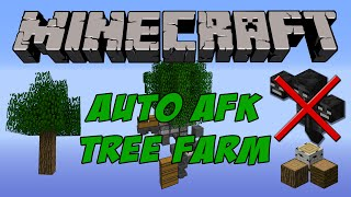Minecraft Tutorial - Simple Auto AFK Tree farm - No wither