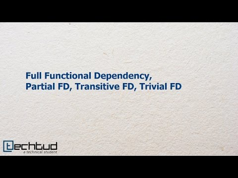 Fully Functional Dependency, Partial FD, Transitive FD and Trivial FD | Database Management System