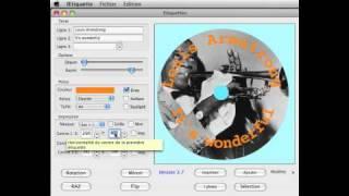 Créer l'étiquette d'un CD et le livret de son boîtier