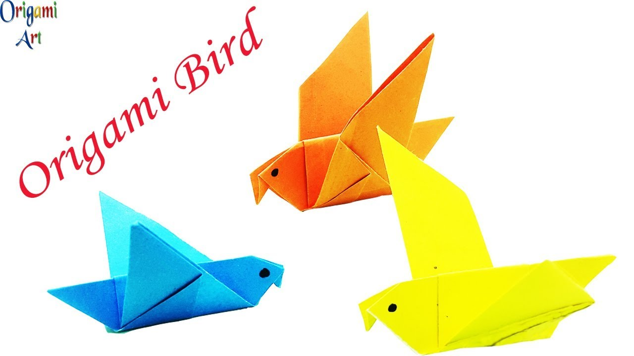 How to make a Paper bird? (Easy origami) - YouTube | 720x1280