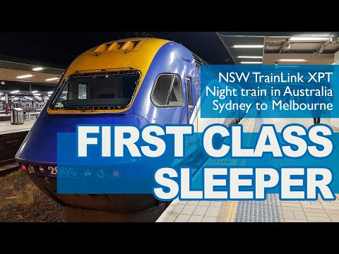 FIRST CLASS SLEEPER | Night Train From Sydney To Melbourne