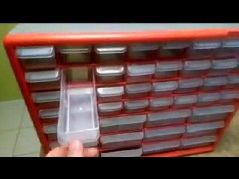 Akro Mils 44-Drawer Hardware and Craft Cabinet - YouTube