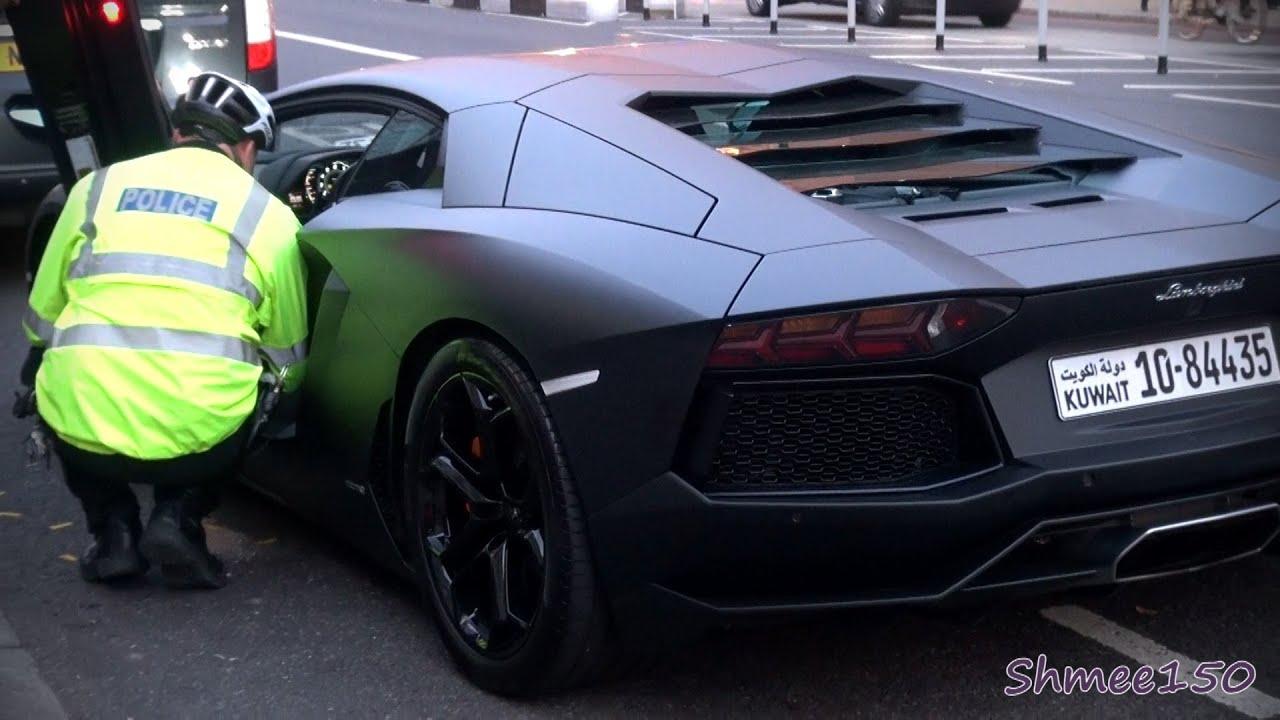 Kuwaiti Aventador IMPOUNDED!