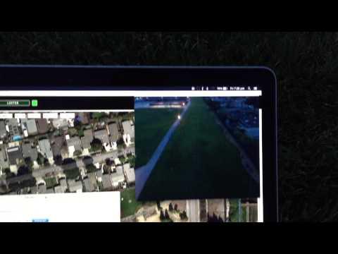 Drone + SDR: USRP E310 real-time digital video downlink (teaser)
