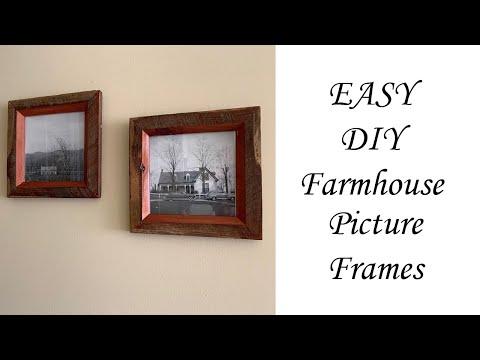 EASY DIY Farmhouse Picture Frames!