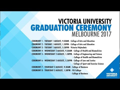 Victoria University Graduation Ceremony 1 August 2017