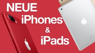 NEUES iPad, iPhone 7 PRODUCT RED, Clips App & neue Apple Watch Bänder - ATA 50