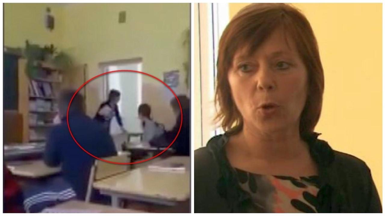 Smurto protrūkis mokykloje: devintokė trenkė mokytoją į sieną