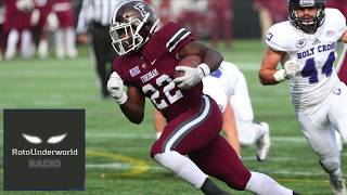 Chase Edmonds is the top deep sleeper RB in the NFL Draft