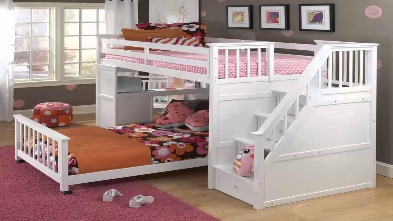 غرف نوم اطفال طابقين للبنات       YouTube